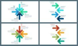 Красочный шаблон Infographic стрелки направления вектора Стоковые Фото
