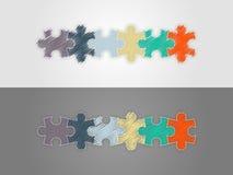 Красочный 6 шаблонов представления головоломки части infographic Стоковые Фотографии RF