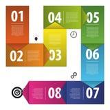 Красочный шаблон шагов прогресса бумаги вектора дела вектор Стоковая Фотография