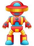 Красочный шарж робота игрушки изолированный на белой предпосылке Стоковое Фото