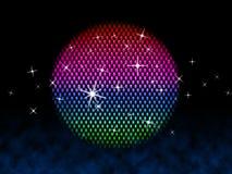 Красочный шарик значит звезды и освещение диско Стоковые Фото