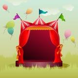 Красочный шатер цирка с воздушными шарами иллюстрация штока