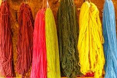 Красочный, шерсти альпаки, Перу Стоковая Фотография