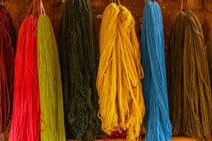 Красочный, шерсти альпаки, Перу Стоковое Изображение