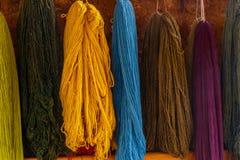 Красочный, шерсти альпаки, Перу Стоковая Фотография RF
