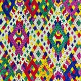 Красочный шелк Лаоса handcraft консервация поверхности половика стиля peruvian старым сорванная годом сбора винограда сделанная о стоковые изображения