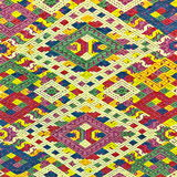 Красочный шелк Лаоса handcraft консервация поверхности половика стиля peruvian старым сорванная годом сбора винограда сделанная о стоковые фотографии rf