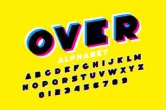 Красочный шрифт верхнего слоя иллюстрация вектора