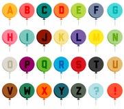 Красочный шрифт воздушного шара иллюстрация вектора