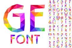 Красочный шрифт заплат иллюстрация штока