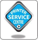 Красочный щелчок кнопки сети пункта обслуживания принтера, применение Стоковая Фотография RF