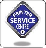 Красочный щелчок кнопки сети пункта обслуживания принтера, применение Стоковые Изображения