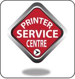Красочный щелчок кнопки сети пункта обслуживания принтера, применение Стоковое Изображение RF