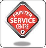 Красочный щелчок кнопки сети пункта обслуживания принтера, применение Стоковые Фото