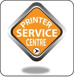 Красочный щелчок кнопки сети пункта обслуживания принтера, применение Стоковые Фотографии RF