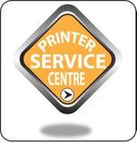 Красочный щелчок кнопки сети пункта обслуживания принтера, применение Стоковые Изображения RF