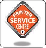 Красочный щелчок кнопки сети пункта обслуживания принтера, применение Стоковое Фото