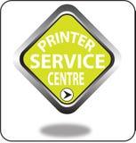 Красочный щелчок кнопки сети пункта обслуживания принтера, применение Стоковое фото RF