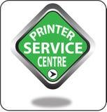 Красочный щелчок кнопки сети пункта обслуживания принтера, применение Стоковая Фотография