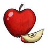 Красочный эскиз яблока на белой предпосылке иллюстрация вектора