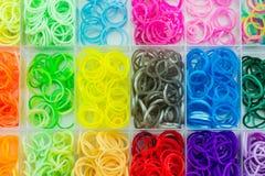 Красочный эластичных диапазонов тени радуги Стоковые Фотографии RF