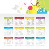 Красочный яркий календарь Стоковые Изображения