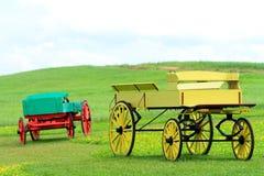 Красочный buckboard стоковое фото