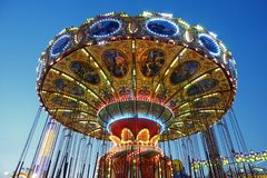 Красочный Carousel в береге Джерси стоковое изображение rf