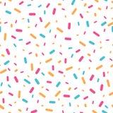Красочный confetti брызгает безшовную картину Стоковые Фотографии RF