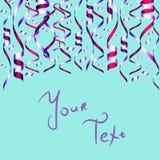 Красочный confetti на голубой предпосылке Иллюстрация штока