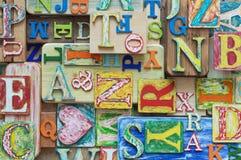 Красочный grungy коллаж письма алфавита Стоковое фото RF