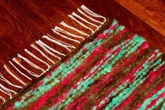 Красочный handmade handwoven половик шерстей Стоковое Изображение