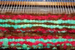 Красочный handmade handwoven половик шерстей Стоковое Изображение RF