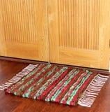 Красочный handmade handwoven половик шерстей Стоковое Фото