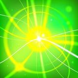 Красочный sunburst - editable векторная графика Стоковое Изображение RF