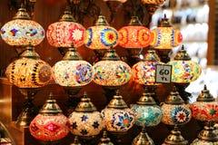Красочный Turkish Laterns в городе Стамбула Стоковая Фотография