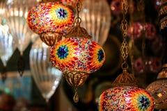 Красочный Turkish Laterns Стоковое Фото