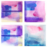 Красочным изолированная комплектом текстура краски акварели Стоковое Фото