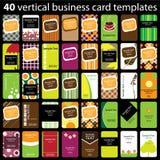 40 красочных визитных карточек Стоковое Фото