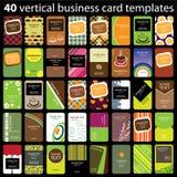 40 красочных визитных карточек Стоковые Фотографии RF