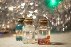 3 красочных декоративных бутылки Стоковые Фото