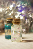 2 красочных декоративных бутылки Стоковое Фото