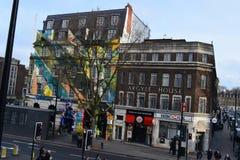 11/03/2018 красочных зданий Лондон Стоковое фото RF