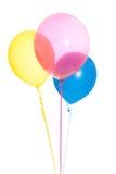 3 красочных изолированного воздушного шара Стоковое Изображение