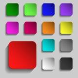 13 красочных кнопки сети для вашего дизайна иллюстрация вектора