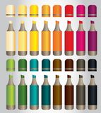 16 красочных отметок для детей с цветом 16 иллюстрация штока