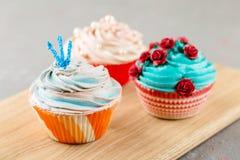 3 красочных пирожного Стоковое фото RF