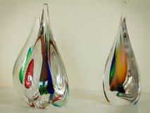 3 красочных стеклянных скульптуры Стоковая Фотография RF