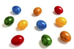 10 красочных яичек Стоковая Фотография
