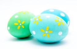3 красочных handmade пасхального яйца Стоковые Фото